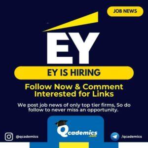 Job at EY: Consultant Job News