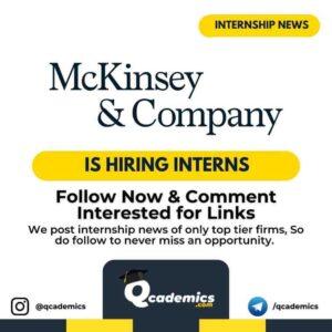 McKinsey Internship: Associate