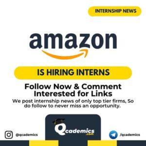 Internship in Amazon: Programmer Analyst
