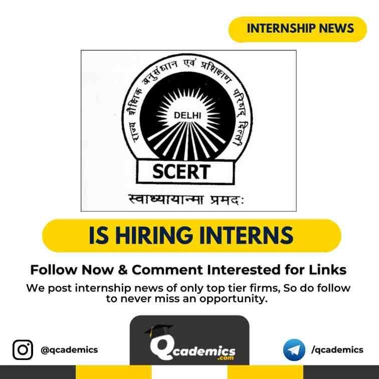 Read more about the article SCERT Internship News: Fellowship & Internship