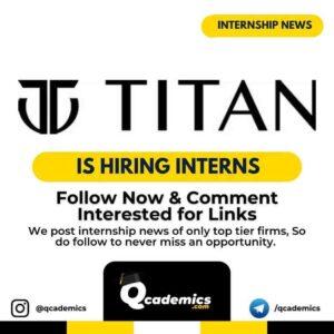 Internship in Titan: Human Resource