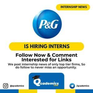 Internship at P&G: A&I Summer Internship