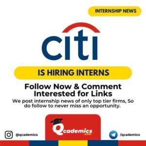 Citi Internship: Summer Analyst
