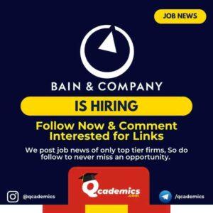 Job in Bain & Company: Associate Job