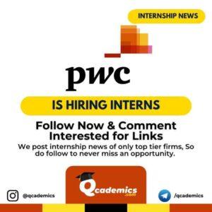 Internship with PwC: Intern