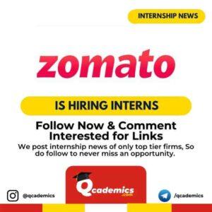 Internship at Zomato: Business Development