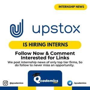 Upstox Internship Program 2021: Content Writing
