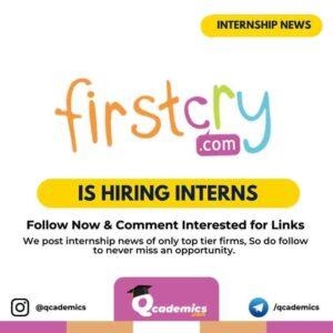 FirstCry Internship: Mobile App Development